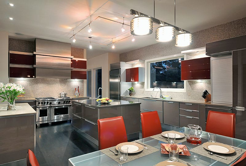 Glass Fantasy Contemporary Kitchen